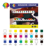 Students grade-Gouache color 12ml*24colors with window
