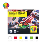Professional grade- Acrylic color 12ml*6colors