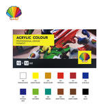 Professional grade- Acrylic color 12ml*12colors