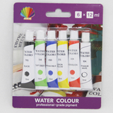 Water color 12ml*6colors packed by blister card