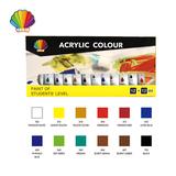 Professional grade- Acrylic color 12ml*12colors with window