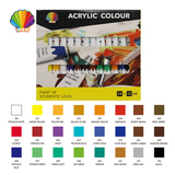 Students grade- Acrylic color 12ml*24colors with window