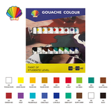 Students grade-Gouache color 12ml*18colors with window